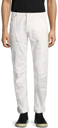 Pierre Balmain Distressing Motorcycle Pant