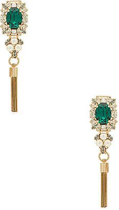 Anton Heunis Crystal & Pearl Tassel Earring