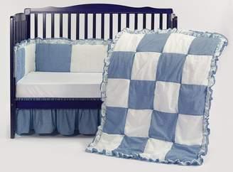 Babydoll Baby Doll Gingham/Eyelet Patchwork Crib Bedding Set