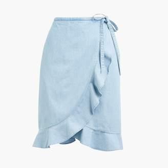 J.Crew Chambray faux-wrap mini skirt