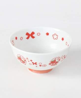 Mother garden (マザー ガーデン) - Mother garden MG くっつきにくいお茶碗 レースブーケ赤柄 容量260ml 406-65649(C)FDB