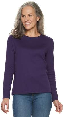 Croft & Barrow Women's Classic Crewneck Tee