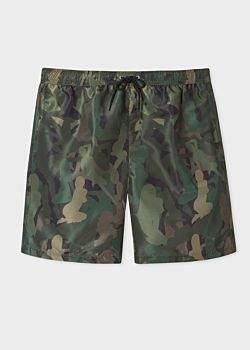 Paul Smith Men's 'Lady' Camouflage Long Swim Shorts