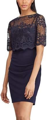 Chaps Women's Lace-Overlay Shift Dress