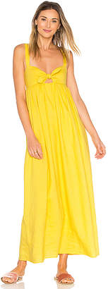 Mara Hoffman Tie Front Maxi Dress in Yellow $385 thestylecure.com
