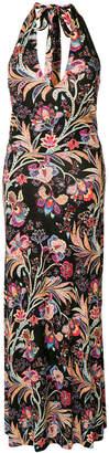 Etro floral halterneck dress