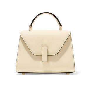 Valextra Iside Micro Textured-leather Shoulder Bag - Cream