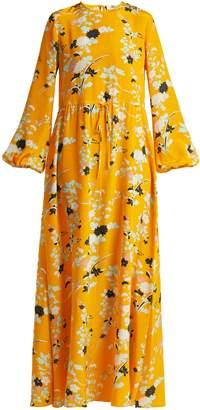 Diane von Furstenberg Walden Marigold-print silk maxi dress