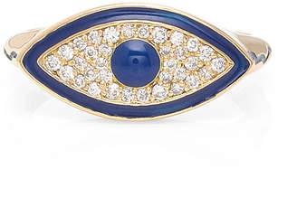 Misahara Evil Eye 18K Gold Diamond Ring