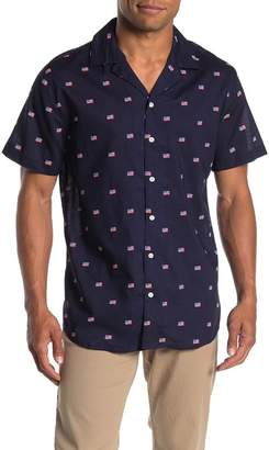 Trunks Surf and Swim CO. Tommy American Flag Print Regular Fit Shirt