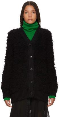 Marni Black Virgin Wool Cardigan