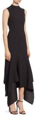 SOLACE London Klara Ruffle Hem Dress