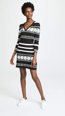 Moschino Patterned Stripe Dress