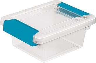 clear STERILITE 19698606 Mini Clip Box Base & Lid Blue Latches Multi