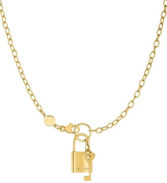 Saks Fifth Avenue 14K Yellow Gold Lock and KeyChain Necklace