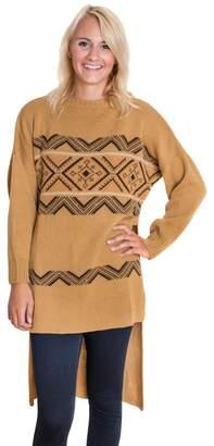 Muk Luks Women's Snowflake Zigzag Sweater Tunic
