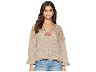 Moon River 3/4 Knit Top Women's Clothing