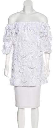 Alexis Embroidered Off-The-Shoulder Tunic