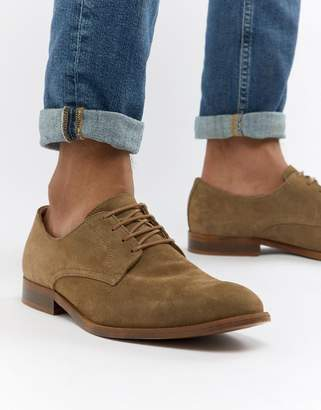 Asos (エイソス) - ASOS DESIGN lace up shoes in taupe suede with natural sole