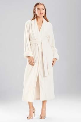 Natori Faux Fur Printed Robe