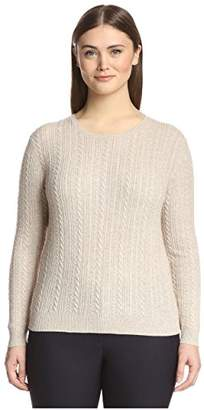 Society New York Plus Women's Cable Crewneck Sweater