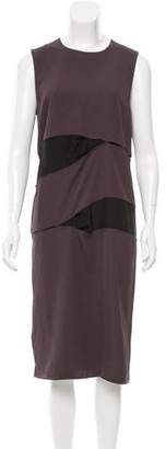 Acne Studios Silk-Paneled Midi Dress w/ Tags