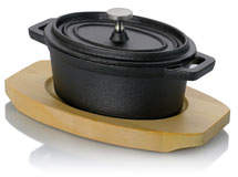 Gibson Home Stanton Mini Casserole Dish w/ Lid & Wood Base