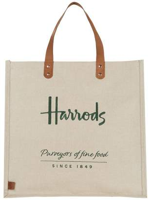 At Harrods Embroidered Jute Grocery Per Bag
