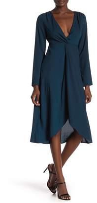 Honeybelle Honey Belle V-Neck Long Sleeves Midi Dress