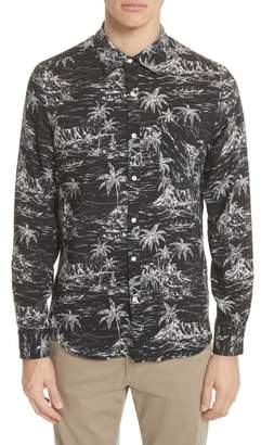 Ovadia & Sons Long Sleeve Hawaiian Shirt