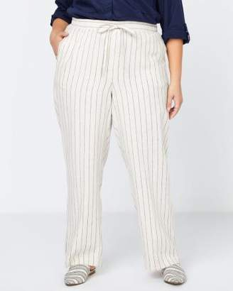 Penningtons Striped Linen Pant - In Every Story