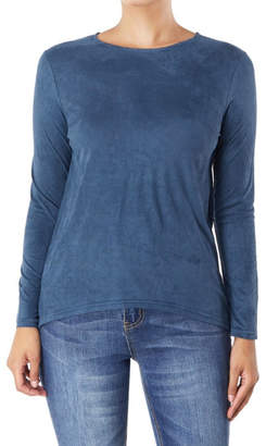Aryeh Basic Suede Top
