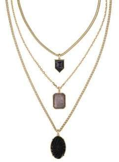 Laundry by Shelli Segal Three-Row Mixed Pendant Necklace