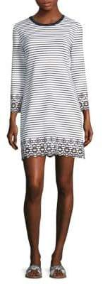 Derek Lam 10 Crosby Eyelet Trim Striped Dress
