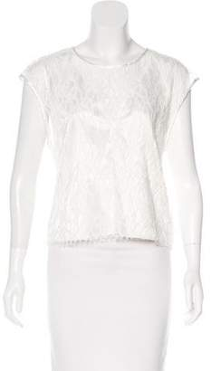 L'Agence Sleeveless Lace Top