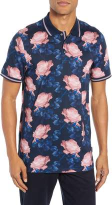 Ted Baker Slim Fit Lively Floral Print Polo