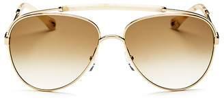 Chloé Jackie Brow Bar Aviator Sunglasses, 60mm