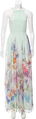 Ted Baker Floral Print Evening Dress w/ Tags