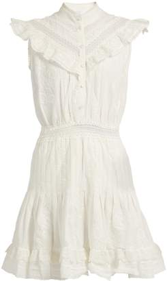 Zimmermann Tulsi Flutter lace-trimmed dress