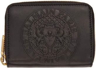 Balmain Black Logo Coin Pouch Wallet