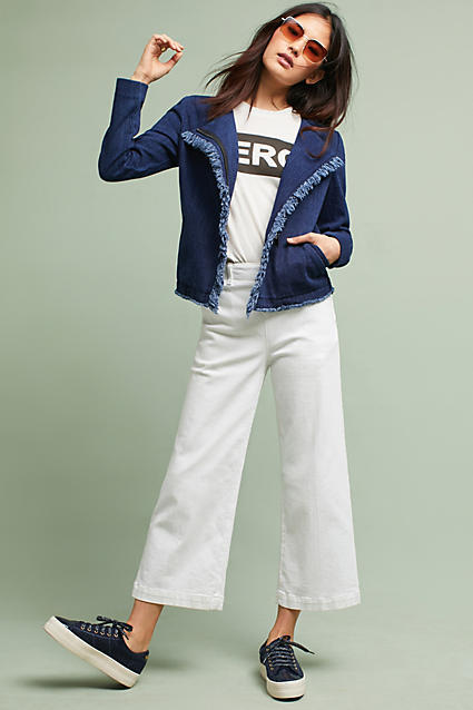 AG Jeans AG Delia Frayed Denim Jacket