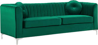 Isa Belle Verlaine Isabelle Green Velvet Sofa