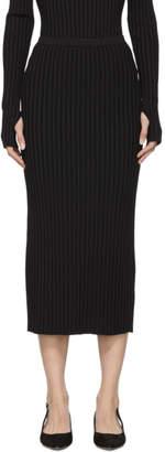 Totême Black Murano Slip Skirt
