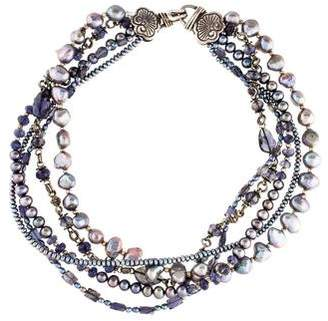 Stephen Dweck Pearl & Iolite Bead Multistrand Necklace