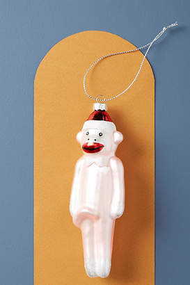 Anthropologie Sock Monkey Ornament