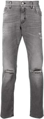 Dolce & Gabbana low rise boocut jeans