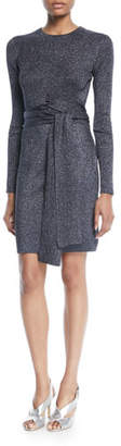 3.1 Phillip Lim Wrap-Waist Ribbed Long-Sleeve Dress