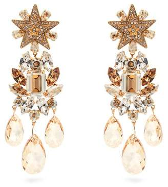 Dolce & Gabbana Crystal Embellished Star Clip On Earrings - Womens - Gold