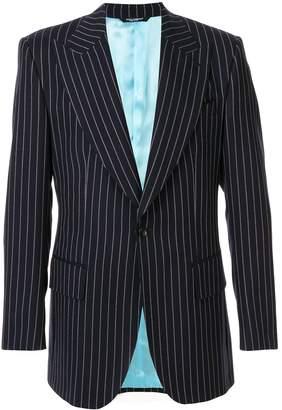 pinstripe suit jacket