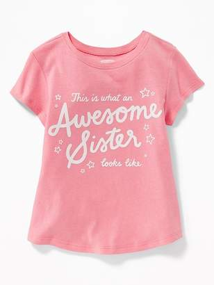 Old Navy Graphic Crew-Neck Tee for Toddler Girls